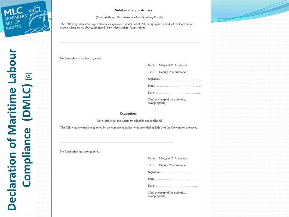 Declaration of Maritime Labour Compliance (DMLC) [6]